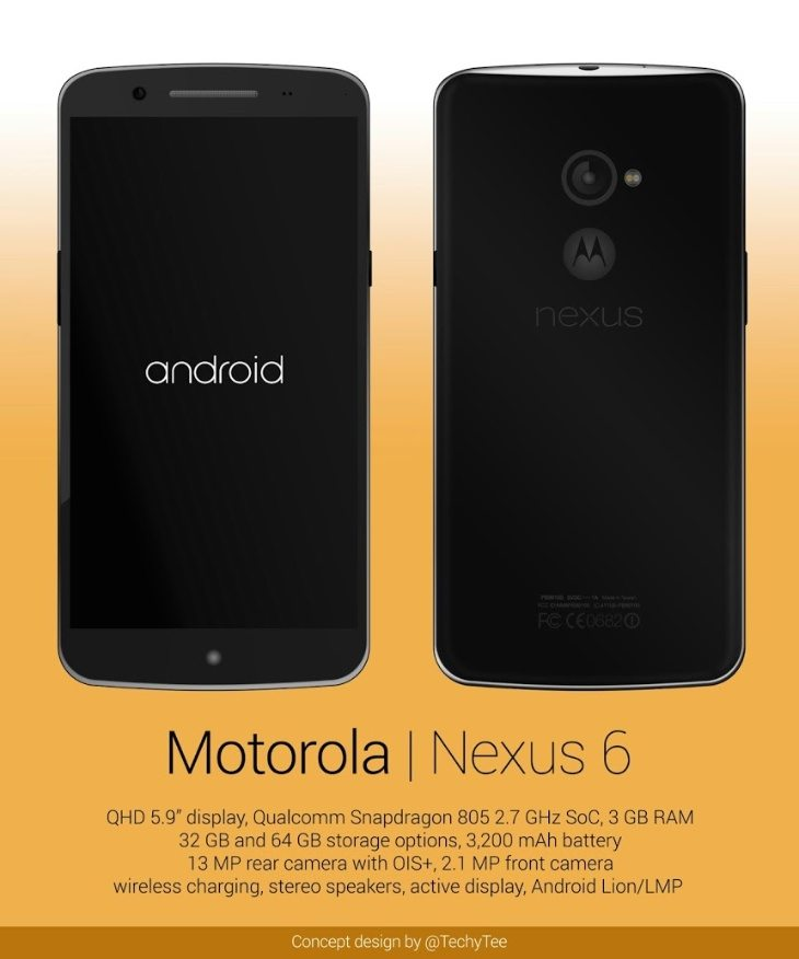 New Motorola Nexus 6 design to compare