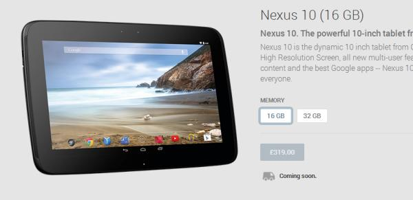 Nexus 10 2014 possible with Google Play Status