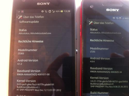 New Sony Xperia SP vs Xperia V in Photos