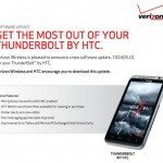 New Verizon HTC Thunderbolt update, but not Jelly Bean
