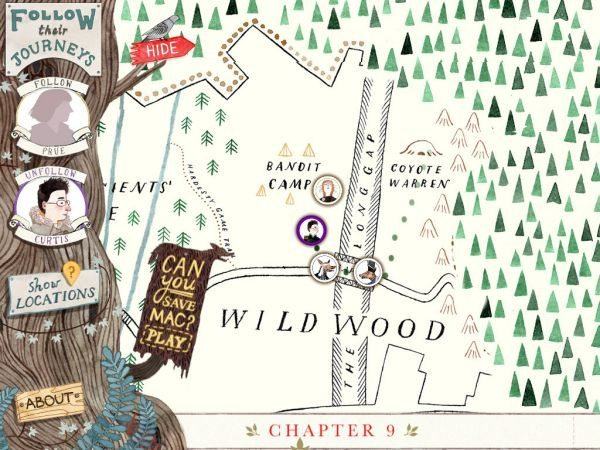 New Wildwood Story Map app features story and game mode