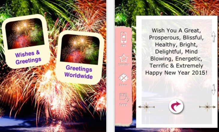 New Year wishes and wallpapers