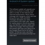 Nexus 4 Android 4.4 KitKat update for India