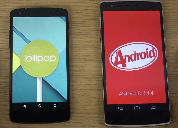 Nexus 5 Android 5.0 Lollipop vs OnePlus One 4.4 KitKat