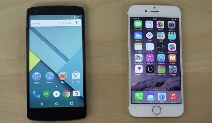 Nexus 5 Android 5.1 vs iPhone 6 iOS 8.2 b