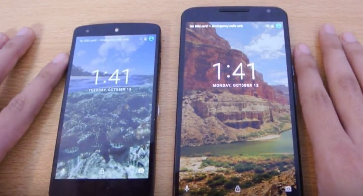 Nexus 5 vs Nexus 6 Android Marshmallow speed testing