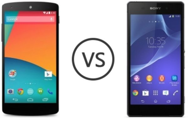 Nexus 5 vs Sony Xperia Z2 specs breakdown