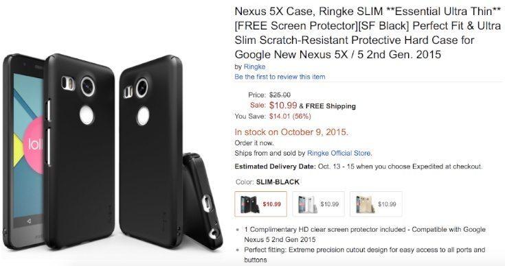 Nexus 5X case spot
