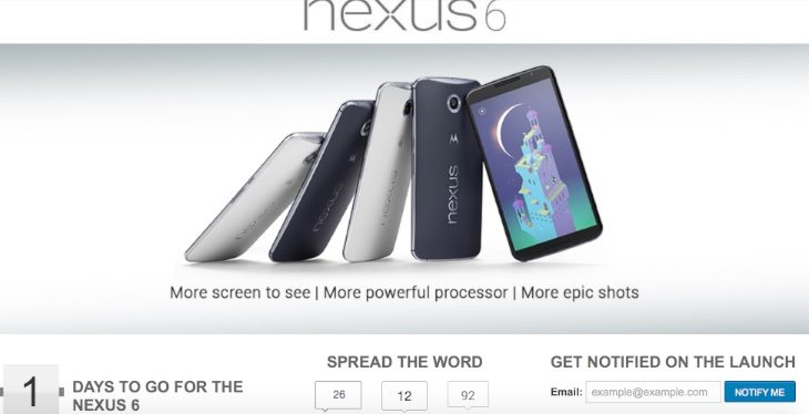 Nexus 6 India Flipkart