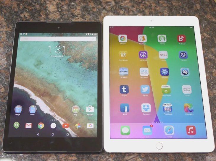 Nexus 9 vs iPad Air 2, user experience or looks