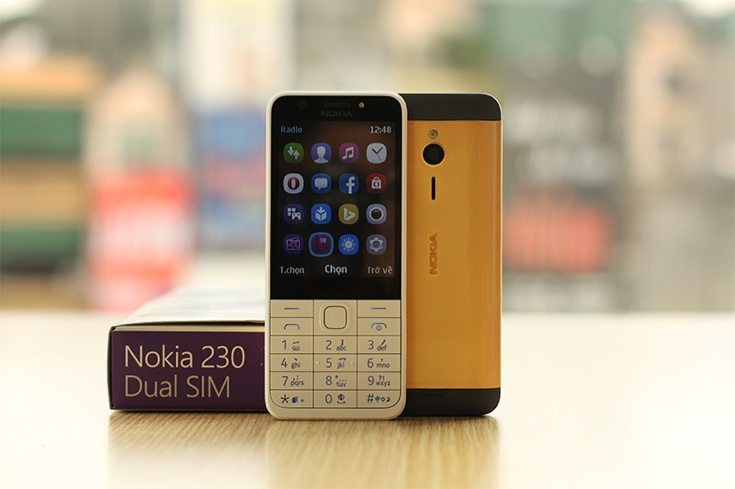 Nokia 230 gold plated
