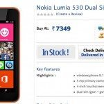 Nokia Lumia 530 price for India at launch