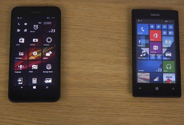 Nokia Lumia 630 vs Lumia 520 with WP 8.1