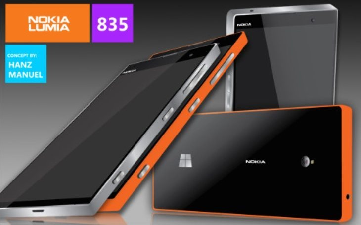 Nokia Lumia 835 design