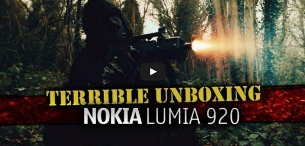 Самый необычный unboxing Nokia Lumia 920