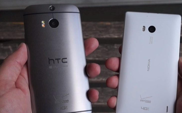 Nokia Lumia Icon vs HTC One M8 for Windows b