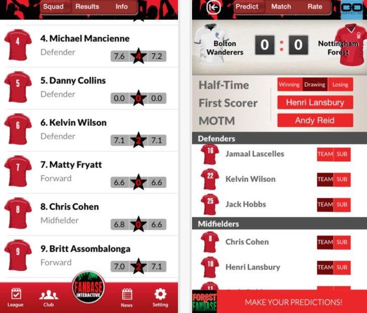 Nottingham Forest fanbase app b
