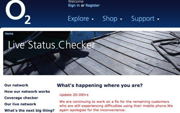 O2 down again, frustration and status checker ...