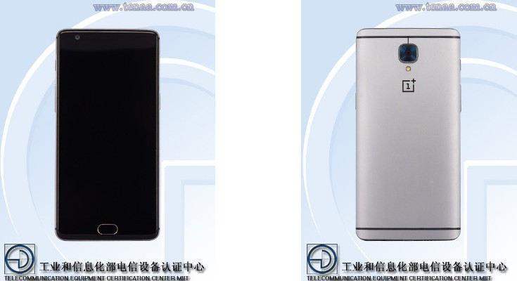 OnePlus 3 specs and photos emerge from TENAA listing