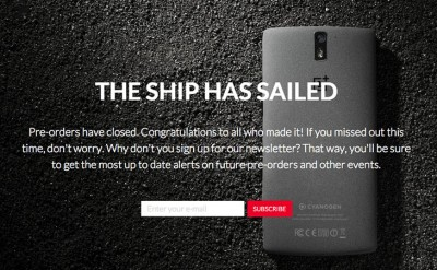 New wave of pre-orders announced for the OnePlus One