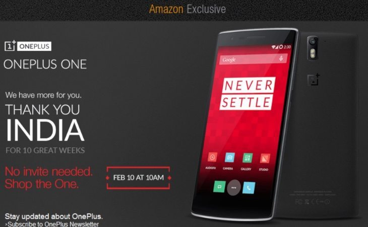 OnePlus One India no-invite sale on February 10