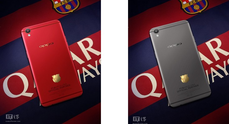 FC Barcelona Oppo R9 leaks ahead of launch