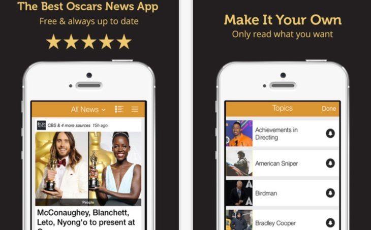 Oscars 2015 Awards news app