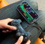 PS3 controller for Android devices with USB OTG adapter