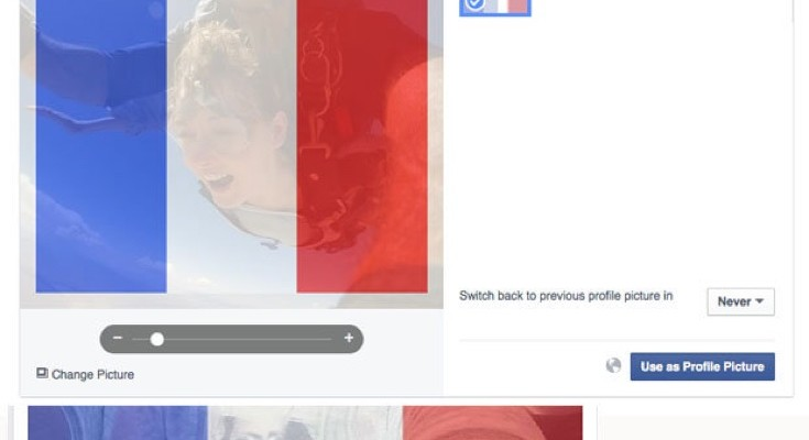 Paris attacks stems Facebook profile change