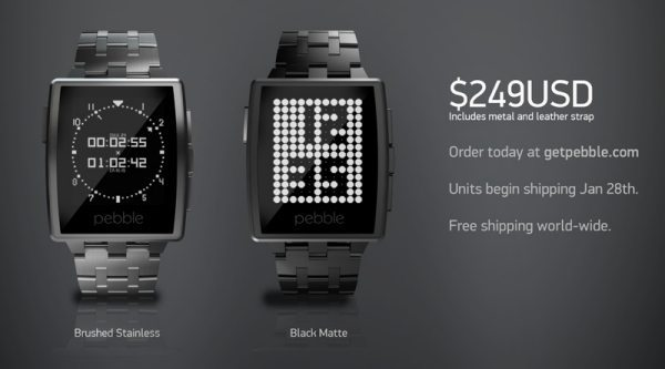 Pebble Steel SmartWatch pre-order and price pic 2