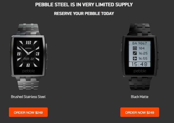 Pebble Steel SmartWatch pre-order and price