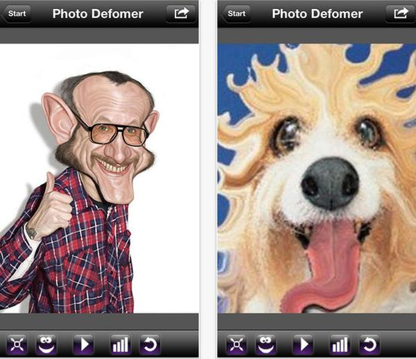 Photo Deformer Free for Android & iOS creates fun caricatures