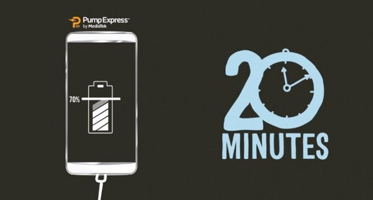 MediaTek Pump Express 3.0 Battery Charger, From 0% to 70% in 20 Minutes!