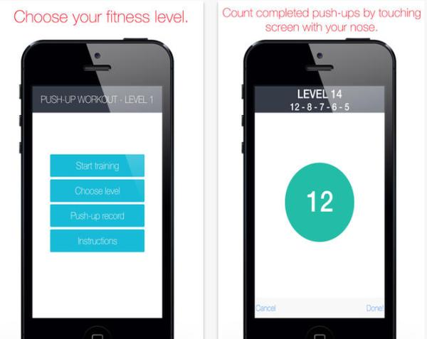Push up workout routine with iOS app