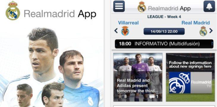 Real Madrid app update b