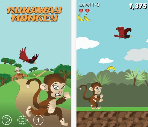 Runaway Monkey addictive free iPhone game