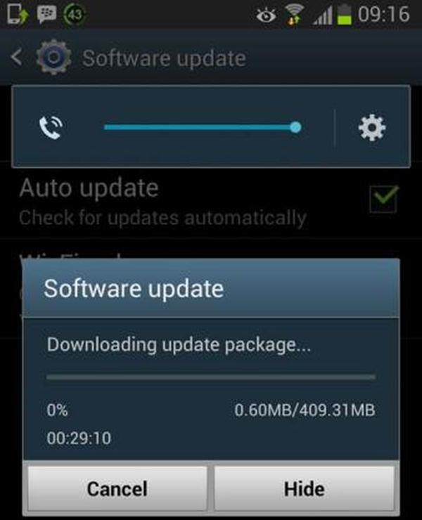 S3 update stopped