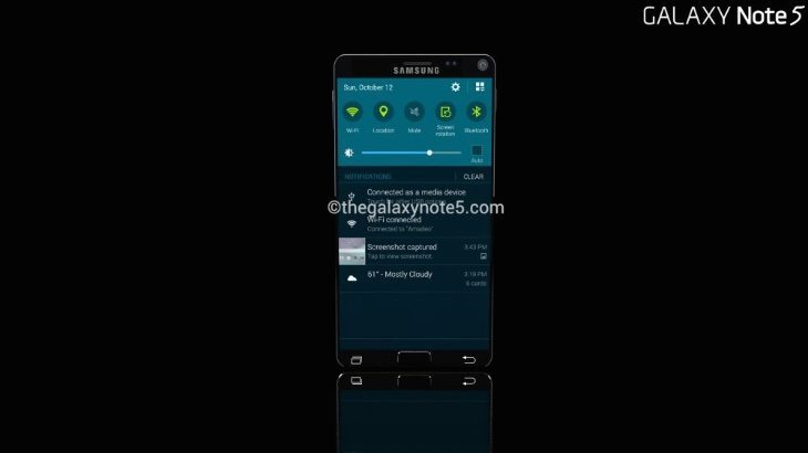 Samsug Galaxy Note 5 concept c