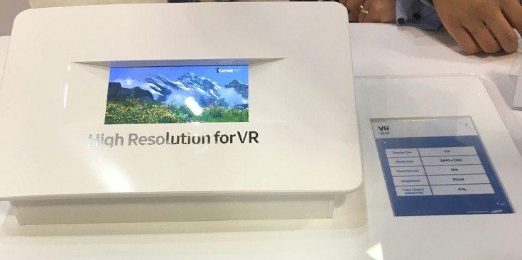 Samsung 4K Smartphone Display is geared towards VR