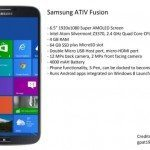 Samsung ATIV Fusion 4000 mAh, 6.5-inch Windows Phone