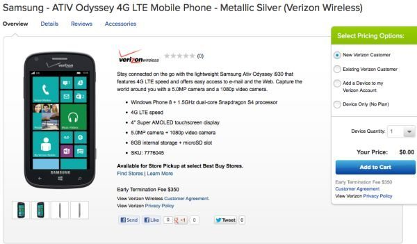 Samsung ATIV Odyssey via Best Buy on the house