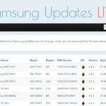 Samsung Android updates list