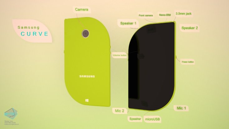 Samsung Curve phone design b