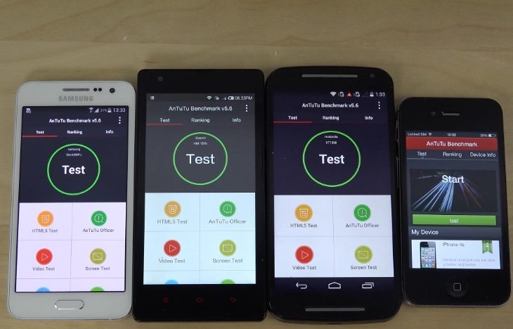 Samsung Galaxy A3 vs Moto G vs Redmi 1S boot up, benchmark tests