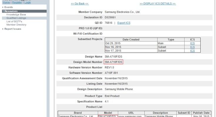Samsung Galaxy A7 2nd gen release closing in