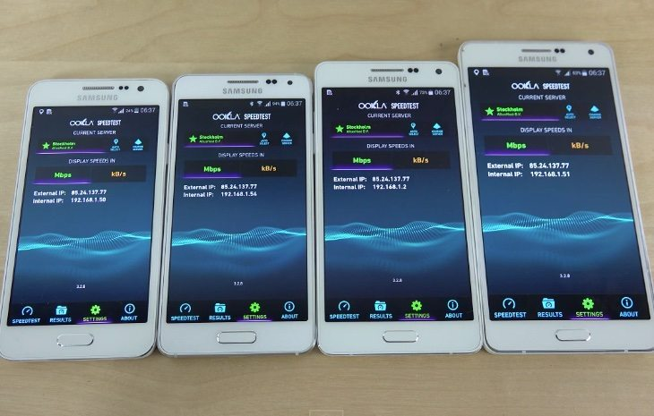 Samsung Galaxy A7 vs A5, A3, Alpha b