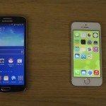 Samsung Galaxy Grand 2 vs iPhone 5S video comparison