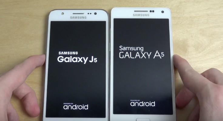 Samsung Galaxy J5 vs Galaxy A5 in bootup speed test