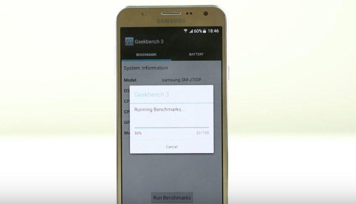 Samsung Galaxy J7 benchmarks and gaming
