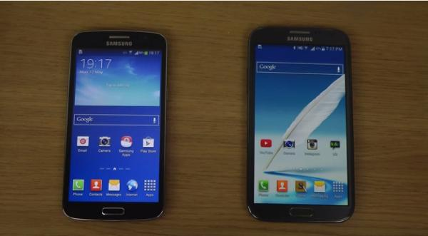 Samsung Galaxy Note 2 vs. Galaxy Grand 2 KitKat comparison